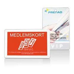 Plastkort med logo tryk