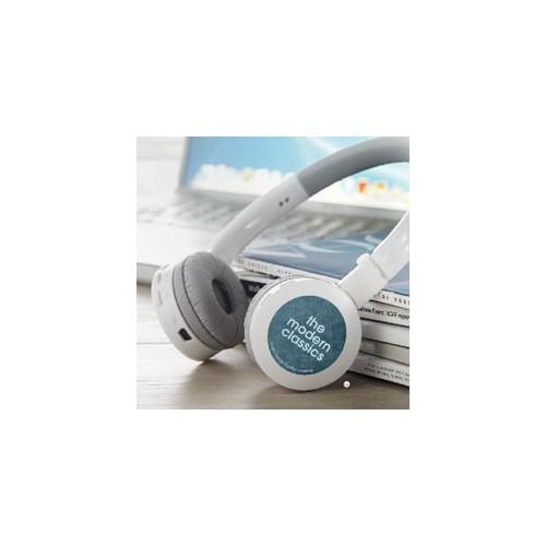 Hovedtelefoner med reklame logo tryk