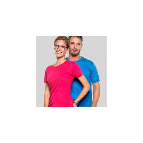Dame t-shirt med tryk og broderi