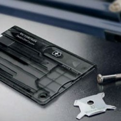 Victorinox SwissCard Quattro med logo tryk
