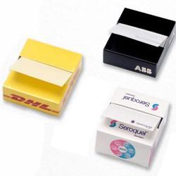 Zig-Zag memoblokke med logo tryk
