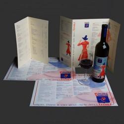 Menukort & drinkskort med logo tryk
