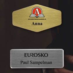 Navneskilte med logo tryk