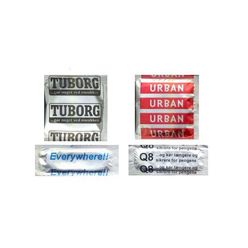 Reklamekondomer med logo tryk
