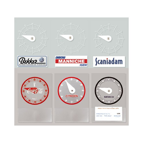 Reklame p-skive med logo