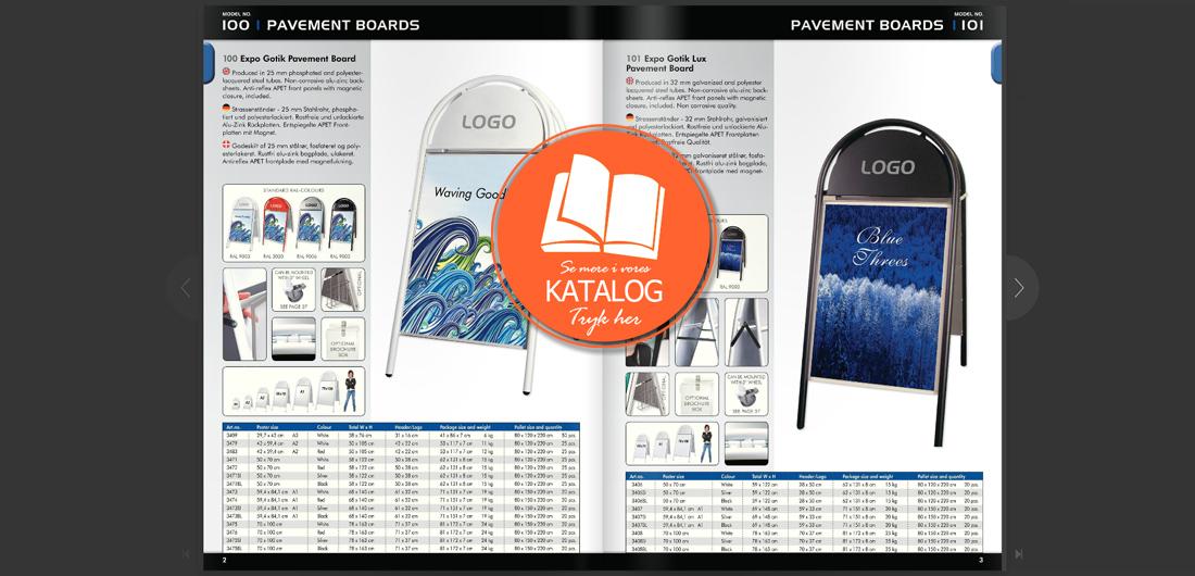 Reklame gadeskilte katalog