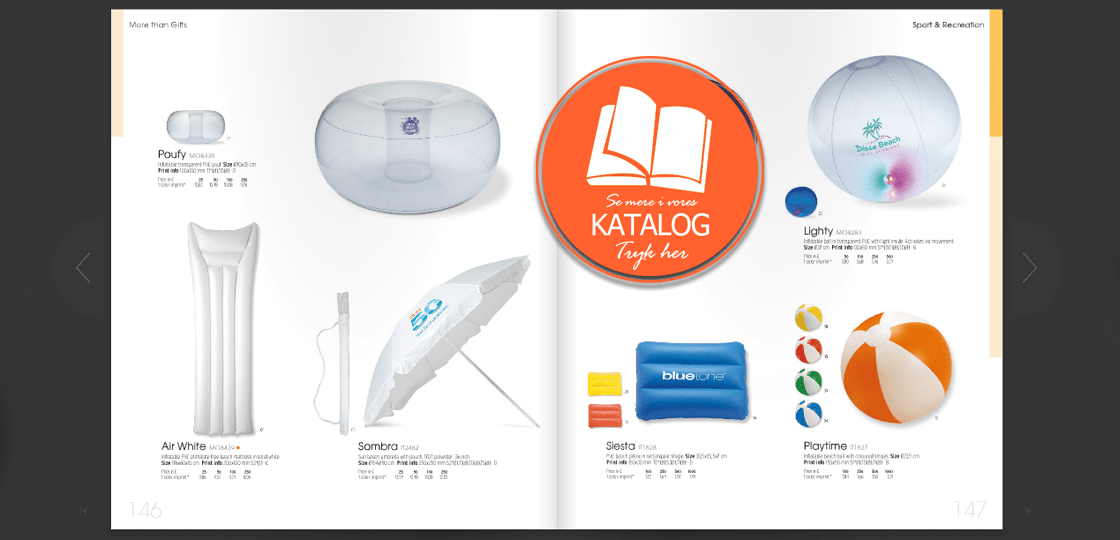 parasol med print katalog