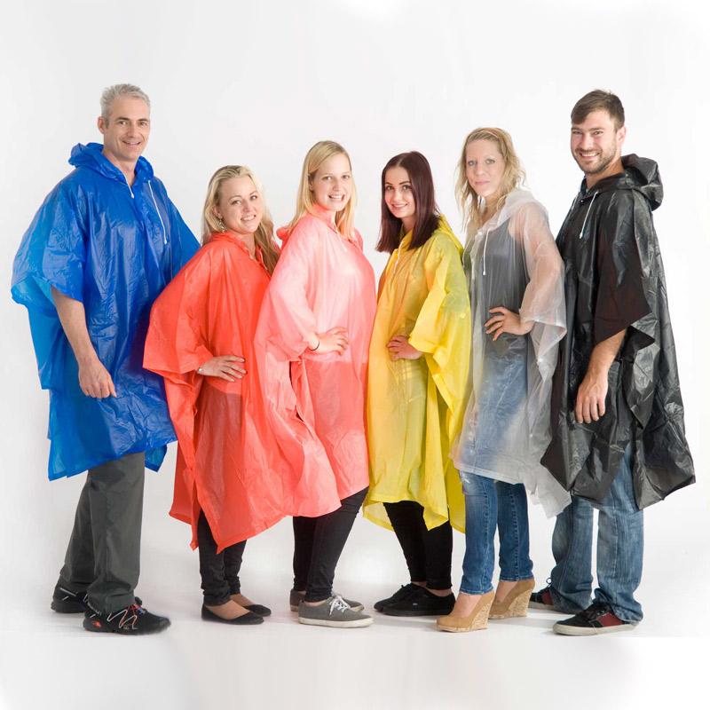 Regn ponchoer med tryk