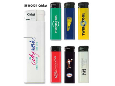 Cricket lighter med firma tryk